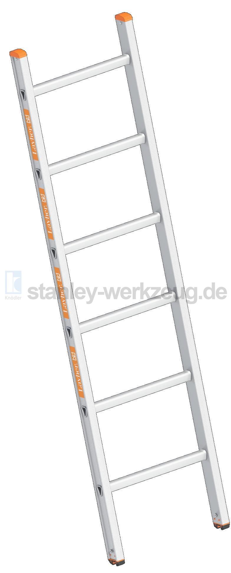 Layher Sprossenanlegeleiter Topic 1054-10 Sprossen 2,95 m Anlegeleiter Leiter